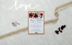 zaproszenie ślubne z tekstem