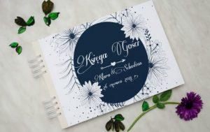 specjalna księga na podpisy gości ślubnych