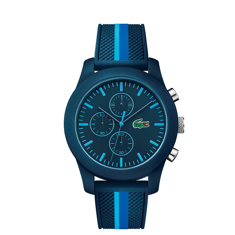 modny zegarek męski Lacoste granatowy