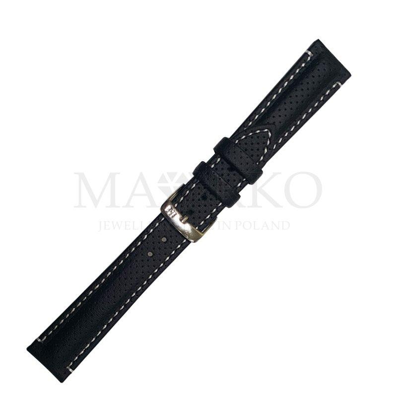 skórzany pasek do zegarka czarny
