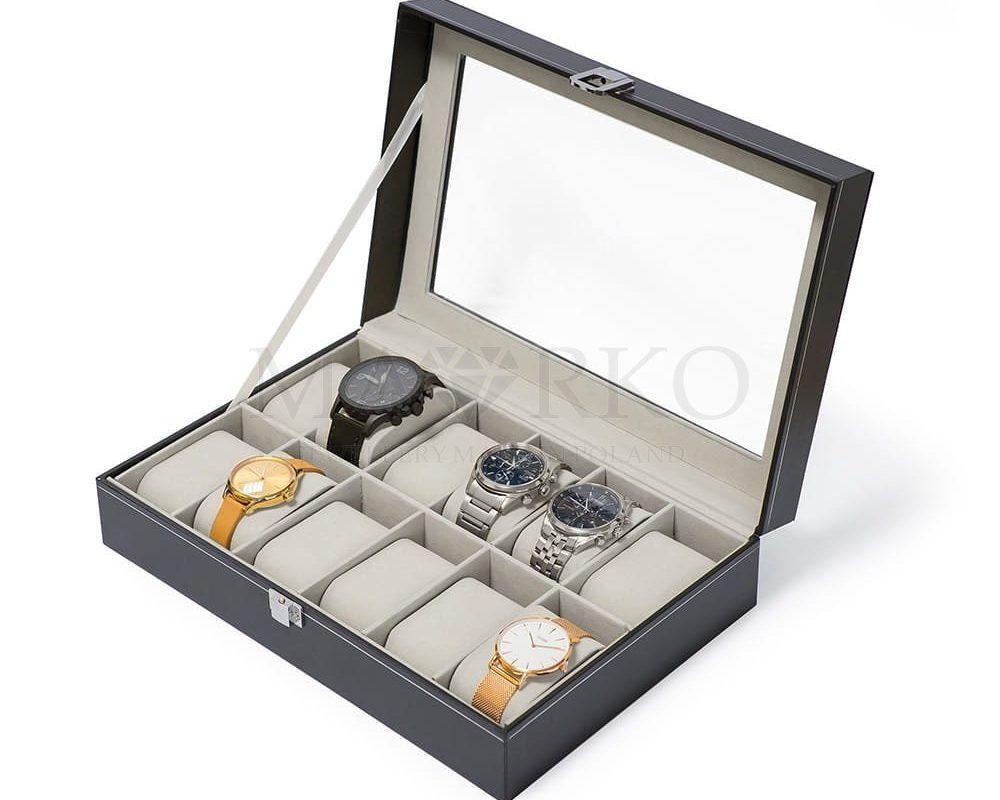 eleganckie pudełko - szkatułka na zegarki